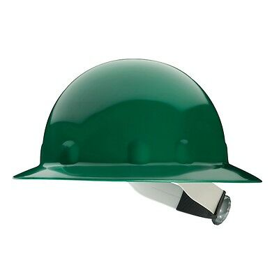 Fibre-metal Hard Hat Full Brim With 8 Point Ratchet Suspension Green