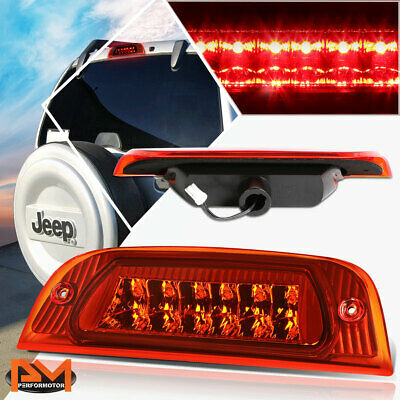 For 02-07 Jeep Liberty Full LED Third 3RD Tail Brake Light Rear Stop Lamp Red 02 Jeep Liberty Tail Light