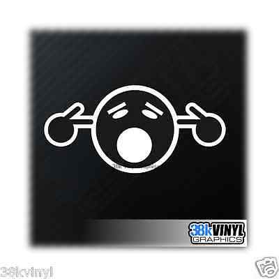 TOO LOUD SMILEY Funny Novelty Drift JDM DUB Slammed Lowered Car Sticker Decal