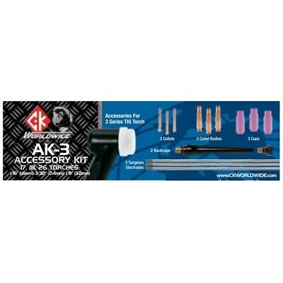 Ck Worldwide 3 Series Tig Torch Accessory Kit Ak-3