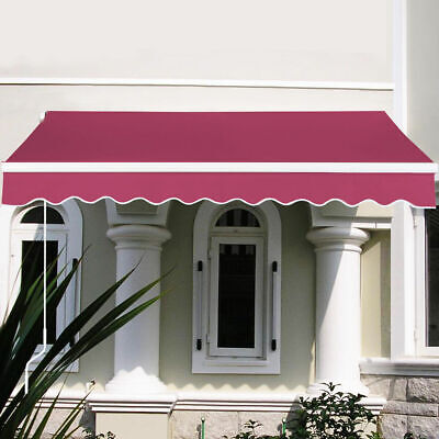 8.2'X6.5' Manual Patio Canopy Retractable Deck Awning Sunshade Shelter 5 Color ()