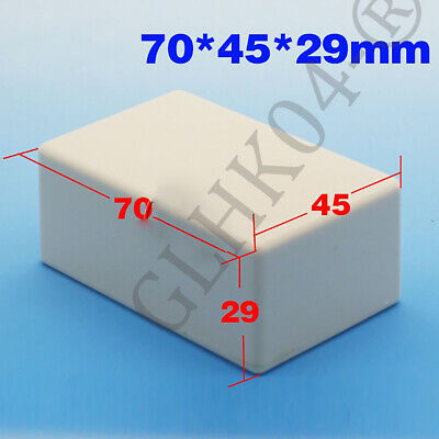 Waterproof Electronic Project Box Enclosure Plastic Cover Case 70x45x29mm White