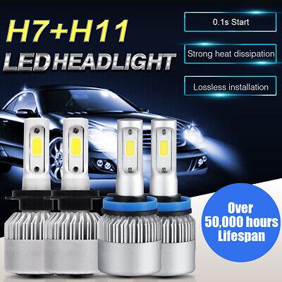 4-sides H7+H11 Combo LED Headlight Kit Hi//Lo Beam Bulb for Ford Fusion 2006-2018
