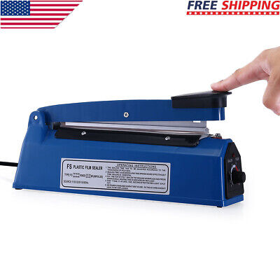 8 200mm Manual Impulse Heat Sealer Poly Bag Machine Shrink Wrap Free Element