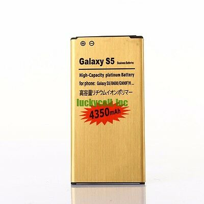 New Far up Capacity 4350mAh Golden Battery for Any Samsung Galaxy S5 i9600 G900