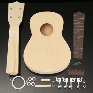 DIY 21'' Ukulele Soprano Maple Wood Musical Instrument Hawaiian Uke Guitar Kit