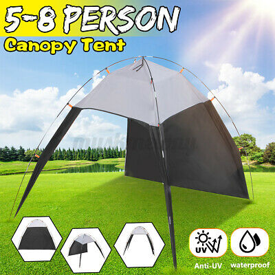 US 5-8 Person Outdoor Canopy Portable Camping UV Sun Shade Shelter Beach Tent