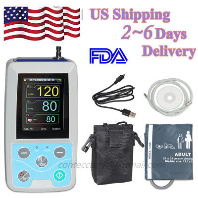Contec Ambulatory Blood Pressure Monitor Abpm50 24h Nibp Holter Software Cefda