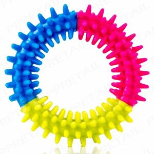 SOFT RUBBER PUPPY TEETHING RING Training/Chew/Healthy Gums/Clean Teeth/Pets/Dog
