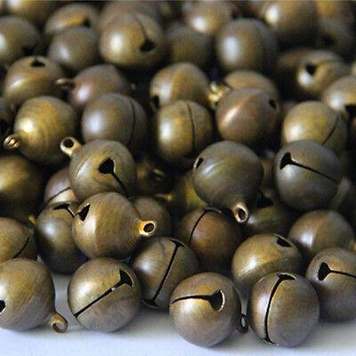 100Pcs Bronze Metal Christmas Jingle Bells Pendants Charms Craft Beads 6mm - Christmas Charms