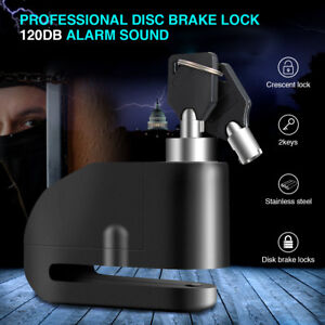 Disc Brake Motorcycle Lock W/ Loud Alarm Anti Theft Security For Scooter Bike US