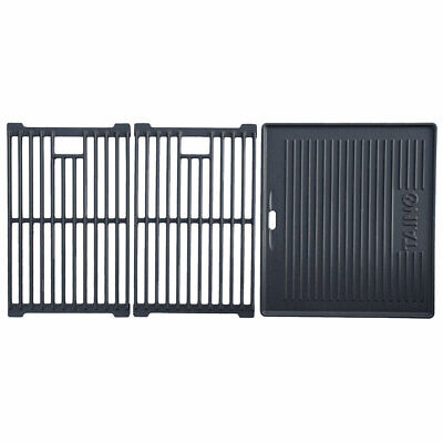 Gusseisen Grill Rost (TAINO BASIC 6+1 Gusseisen Rost Grillplatte Grillrost Zubehör Set Gasgrill Grill)