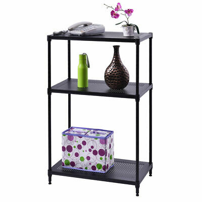 3 Layer Rect Shelf Storage Rack Furniture Bathroom Kitchen Organizer Steel New