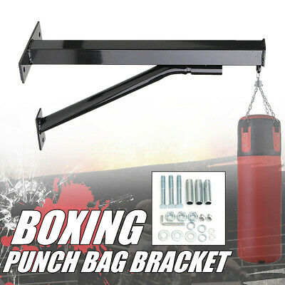 Wall Mounted Heavy Duty Bracket Boxing Punch Sand Bag Rack Hanging Stand  **/ Heavy Bag Racks