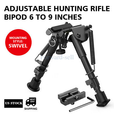 """6"""" to 9"""" Compact Spring Return Sniper Hunting Rifle Bipod +"""