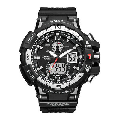 SMAEL Men's Date Sport Luminous Alarm Digital Chrono Waterproof Analog Watch US
