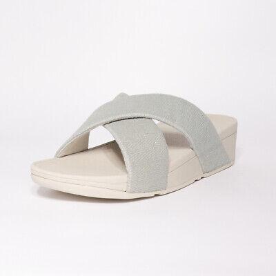 Womens Fitflop Lulu Mirage Cross Pearl Slide Sandals (TGF30) RRP £54.99