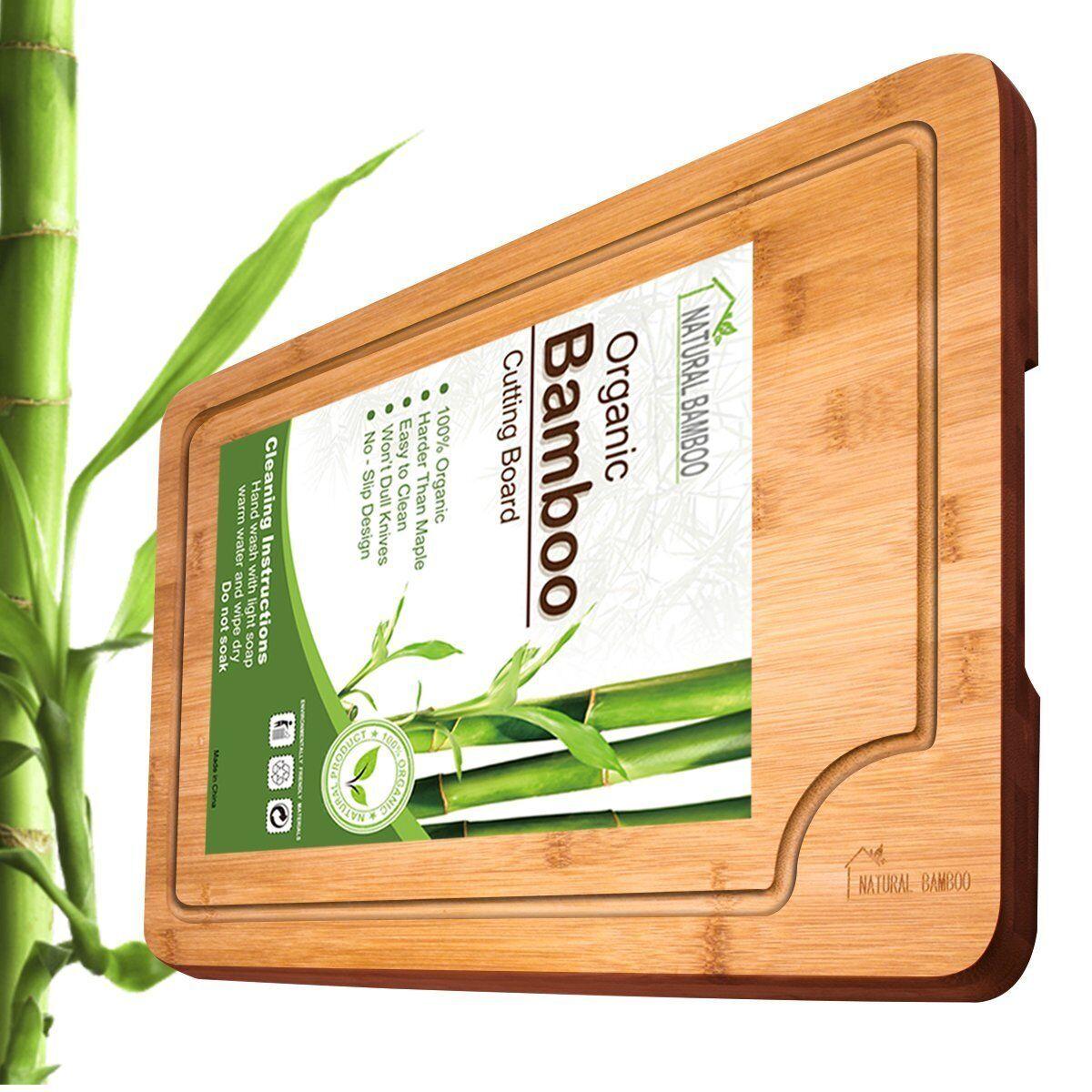 Bamboo Cutting Board, ANKO 100% Organic Bamboo Extra Large C