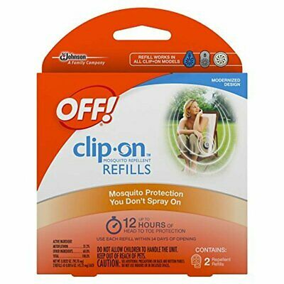 OFF!® Clasp-On™ Mosquito Repellent Refills, 2 count package - up to 12 hours each