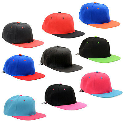 Basecap Cap Caps Snapback Kappe Baseball Mütze Trucker Unifarben Zweifarbig Neu