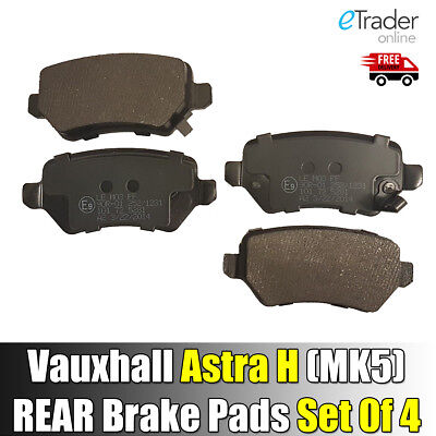 Vauxhall Astra H Mk5 Rear Brake Pads Set 2004 - 2011 Disc Pad X 4 New UNIPART