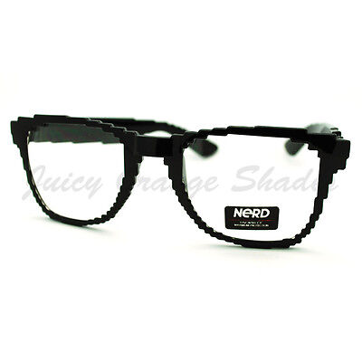 Pixel Pixelated Eyeglasses Clear Lens Digital Image Glasses Black UV (Shades Glasses Images)