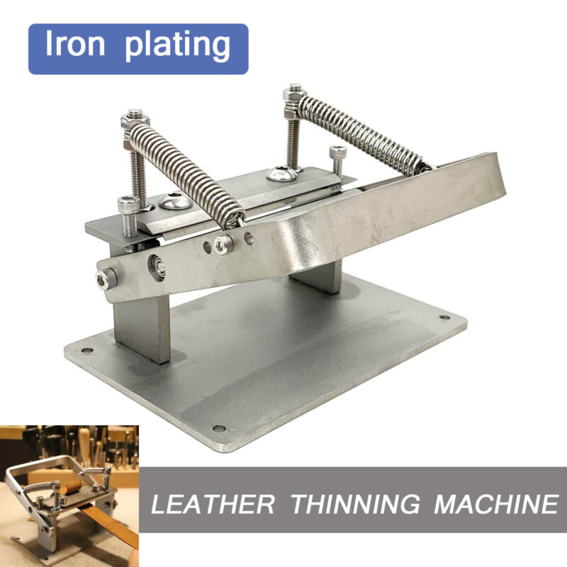 Leather Peeling Machine Splitter Manual Leather Skiver Peeler W/Screws & Blades