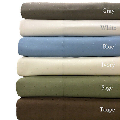 - Ultra Soft 600 Thread Count Egyptian Cotton Blend Woven Dots Bedding Collection