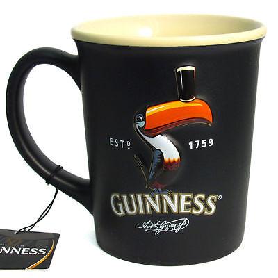 Guinness Irish Toucan Embossed Black Single Mug