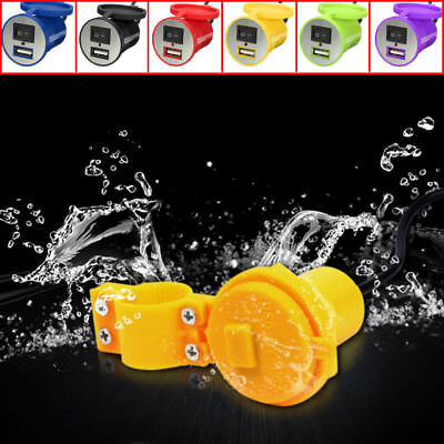 Motorcycle Motorbike USB Charger Adapter Power Socket Mobile Phone Waterproof UK