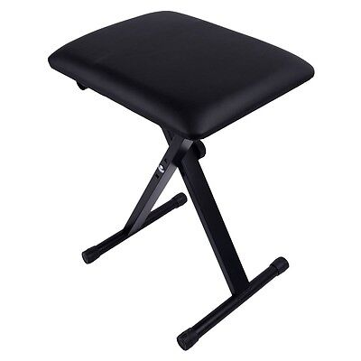 Piano Bench Adjustable Piano Keyboard Chair  Padded Seat Rubber Feet Steel New on Rummage