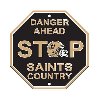 NFL New Orleans Saints Stop Sign Danger Ahead Home Room Bar Decor 12