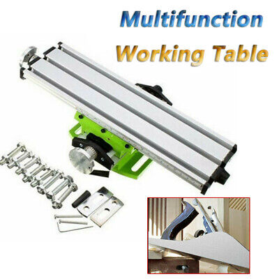 Mini Milling Machine Work Table Vise Portable Compound For Bench Drill Press