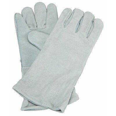 14 Welding Gloves Gray Leather Cowhide Protect Welder Hands