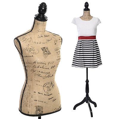 Goplus Female Mannequin Torso Dress Form Display W Black Tripod Stand New
