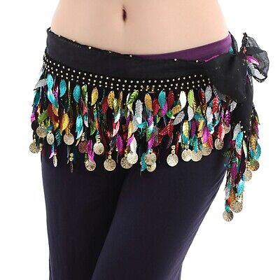 Halloween Belly Dance Hip Scarf Hula Belt Sequins Practise Trainning Scarf - Halloween Dance Practice