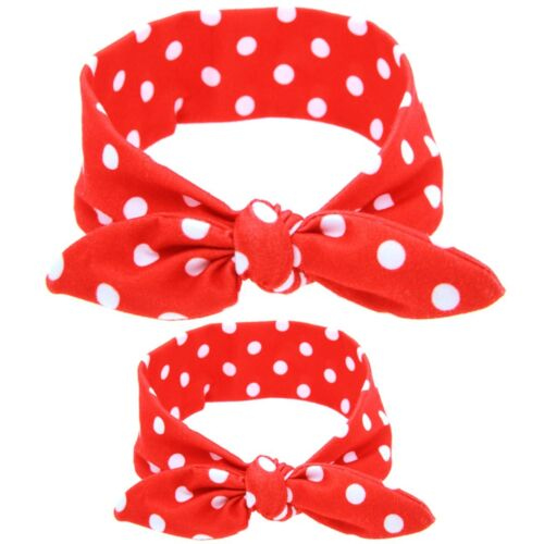 2PCS/Set Mom Mother & Daughter Kids Baby Girl Bow Headband Hair Band Accessories
