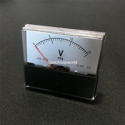 1pcs Dh670 Dc 15v Analog Panel Meter Volt Voltage Meter Voltmeter Gauge 0-15v
