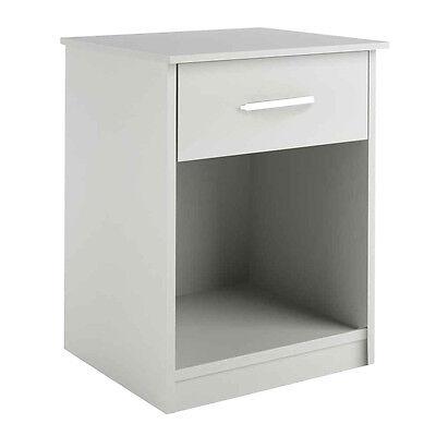 منضدة جانب السرير جديد White Night Stand Bedroom Stand Bedside Furniture Drawer Sturdy Storage