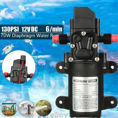 Valve Dc 12v 130psi 6lmin Water High Pressure Diaphragm Self Priming Pump 70w