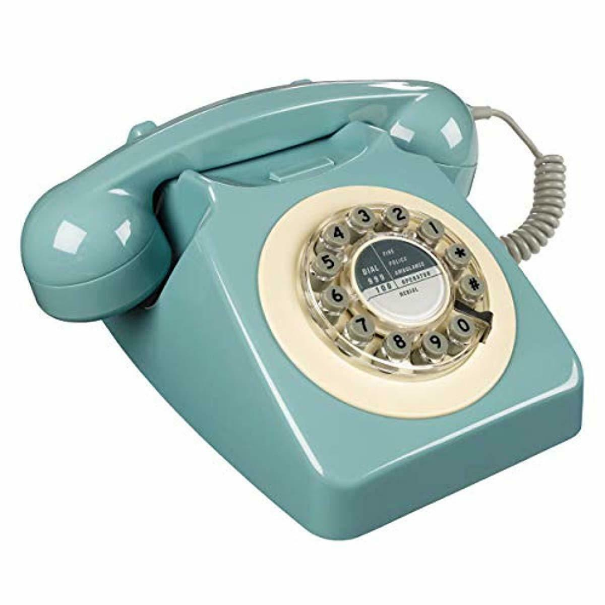Old School 80s 90s Time ROTARY Telephone Fashioned Retro Lan