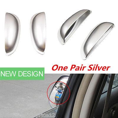 Silver Auto Car Two Row Rear View Mirror Improve Visual Range Blind Spot Mirrors