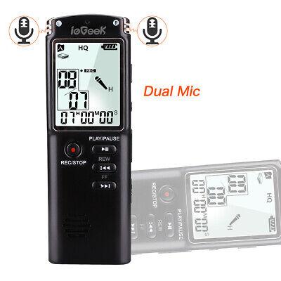 8GB Diktiergerät Wiederaufladbare Digital Aufnahmegerät LCD Sound Voice Recorder
