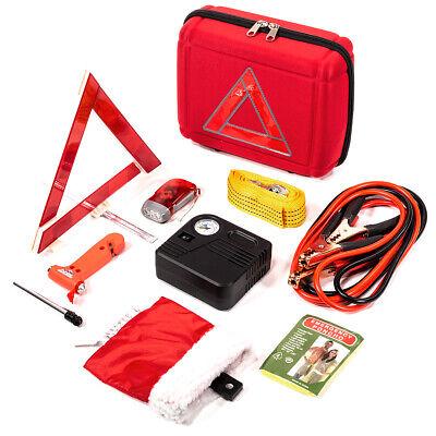 Portable Roadside Emergency Kit Auto Set Car Tool Bag Vehicle Safety Kit 10pcs
