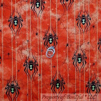 BonEful Fabric FQ Cotton Quilt Orange Black Halloween Spider Glitter Dot Stripe](Boy Scout Halloween Crafts)