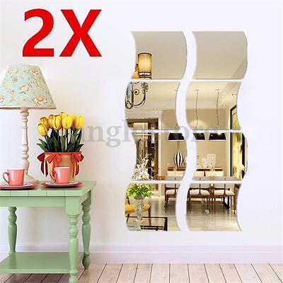 Used, 3D Mirror Wall Stickers Vinyl Removable Home View Window Decal Art Decor Mural for sale  Shipping to Nigeria