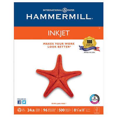 Hammermill InkJet Paper, Letter, White, 24lb, 96-Bright,500 sheets*FREE SHIPPING
