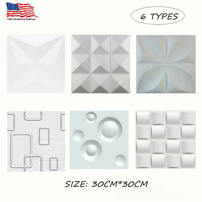 6Types 3D Wall Panel Ceiling Tiles Wallpaper Background DIY Home Decor -