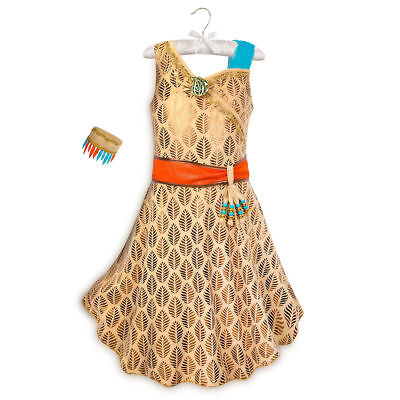 Disney Store Pocahontas Costume Dress Up Princess Halloween Girl Outfit NEW - Halloween Pocahontas Costume