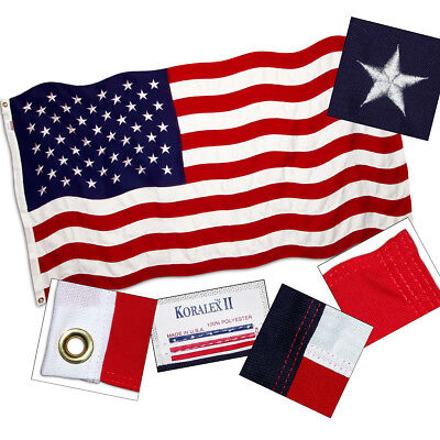 American Flag 5ft x 8ft Valley Forge Koralex II 2-Ply Sewn P